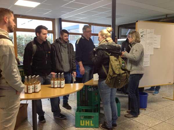 Verkaufsaktion Im Rahmen des Projektes im Fach Getränketechnik an der Fachschule für Lebensmitteltechnik in Butzbach